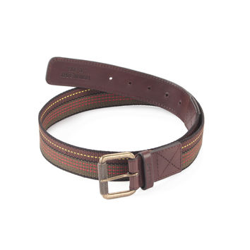 Style n Craft 390306 Leather/Webbing Combination Belt in Brown Color