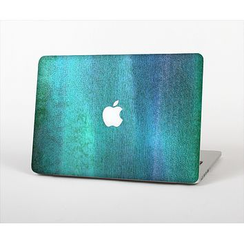 The Vivid Green Watercolor Panel Skin Set for the Apple MacBook Air 13""