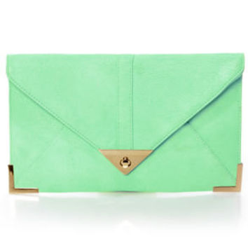 To Have and to Hold Mint Green Clutch