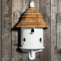 Bird House - Copper Opening For Cleaning