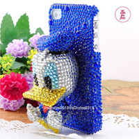 3D Traditional Donald Duck Doll RhinestoneDIY Deco Kit Decoden Kit Cabochon Deco Kit For DIY Cell Phone iPhone 4G 4S 5 Case