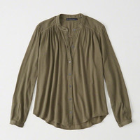 Womens Garment Dye Shirt | Womens New Arrivals | Abercrombie.com