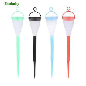 Tanbaby Waterpoof Outdoor Solar Powered Lawn Lamp RGB Garden Stake Light Pathway Lighting Decoration for Path Patio Lawn Balcony