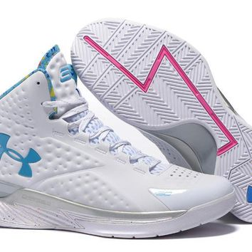 qiyif Men's Under Armor Curry 1 Basketball Shoes White 40-46