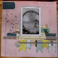 12x12 Premade scrapbook page  fun generic can be by ScrappyDoodads