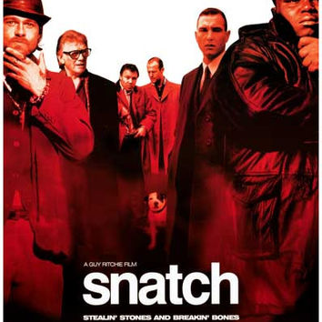 Snatch Cast Brad Pitt Benicio Del Toro Movie Poster 11x17