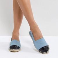 Truffle Collection Toe Cap Espadrille at asos.com