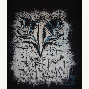 May On Sale 30% Off Rare Vintage Harley Davidson 1987 Eagle HD T Shirt 1980s Motorcycle Vtg Tee