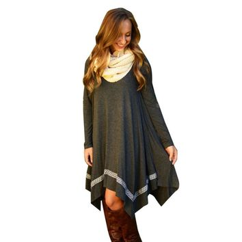 Fashion Women Bodycon Long Sleeve Poncho/Dress Tunic