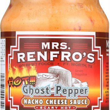 Mrs. Renfro's Gourmet: Ghost Pepper Nacho Cheese Sauce Scary Hot, 16 Oz