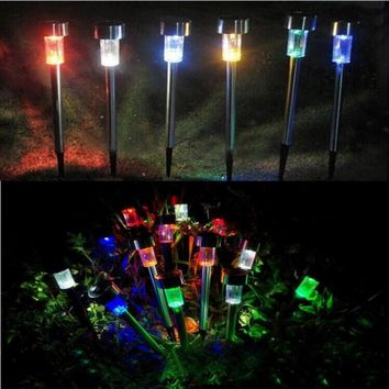Led Solar Light For Garden Decoration Outdoor Pathway Waterproof LED Solar Powered Lawn Lights Street 5PCS/set