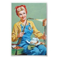 Rosie the Riveter Makes Toasted Cheese Photo Print from Zazzle.com