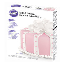 Rolled Fondant - Pink: 24-Ounce Package