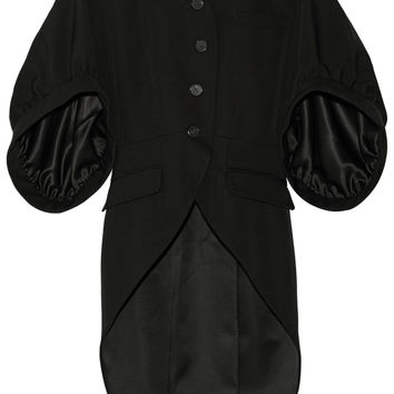Givenchy - Coat in black grain de poudre wool