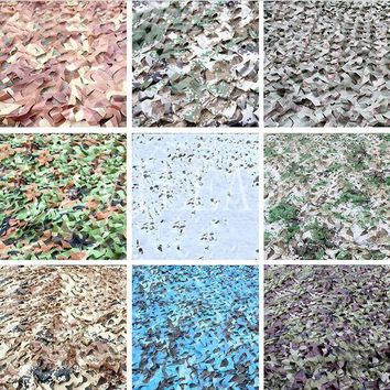 VILEAD 9 Colors 1.5M*5M DIY Woodland Three Colors Camouflage Netting Camo Net outdoor sport Sun-shade park Netting Decoration
