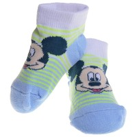 Mickey Mouse - Face Blue Baby Socks