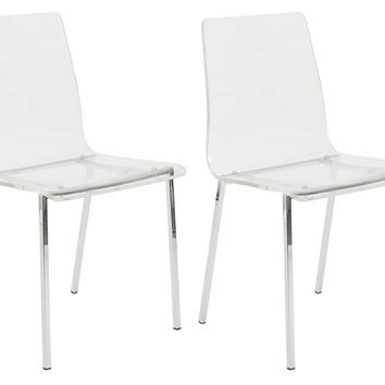Clear Acrylic Chairs, Pair, Acrylic / Lucite, Dining Chair Sets