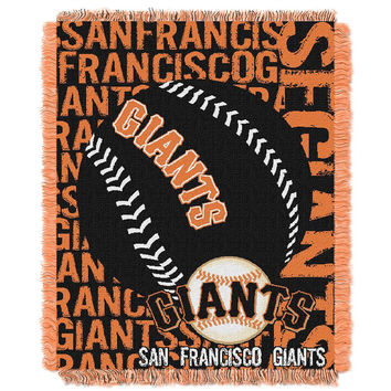 San Francisco Giants MLB Triple Woven Jacquard Throw (Double Play) (48x60)