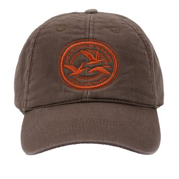 Thompson Twill Geese Hat in Stone Brown by Southern Marsh