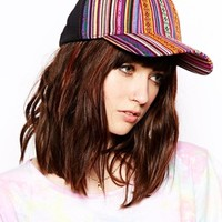 ASOS Geo-Tribal Panel Cap - Multi