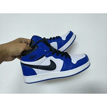 """Nike Air Jordan I"" Unisex Casual Fashion Multicolor High Help Basketball Plate Shoes Couple Sneakers"