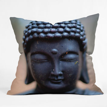 Bird Wanna Whistle Buddha Throw Pillow