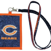 Chicago Bears Beaded Lanyard Wallet