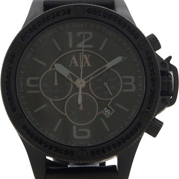 armani exchange - ax1520 black stainless steel watch watch 1 piece