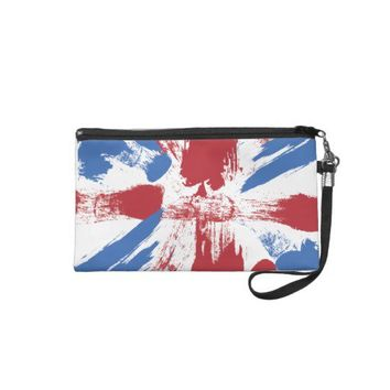 British Flag Grunge Painted Wristlet Purses from Zazzle.com