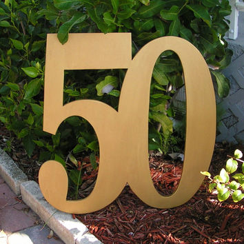 Birthday Anniversay  2 foot tall Large Wood Letters. Great for Guest Book Alternative