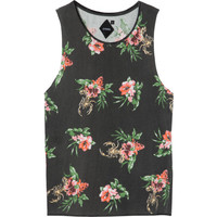 Thrills Co Scorpion Floral Muscle Tank Top - Women's