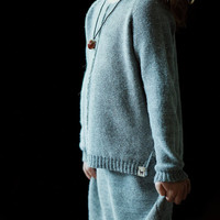 Raglan pullover / Baby alpaca gray sweater / light pullover for boy / girl / baby / toddler / kids /