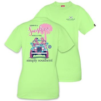 "Simply Southern ""Preppy Flamingo"" Short Sleeve Tee SALE"