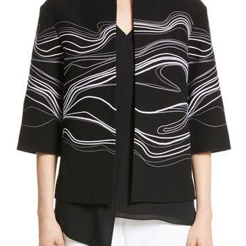 St. John Collection Bella Brushstroke Double Weave Jacket | Nordstrom