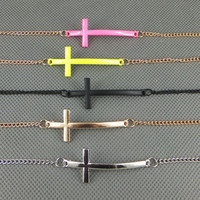 Stylish Shiny Gift Jewelry New Arrival Accessory Simple Cross Rack Necklace [7298063303]