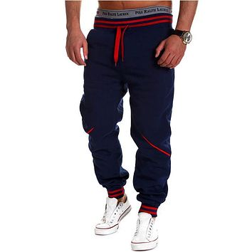 2017 Limited Midweight Clothes New Style Man Europe America Trousers Male Casual Solid Color Full Knitted Work Out Men Pants