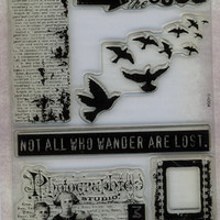 "Tim Holtz Acrylic Stamps - MINT - Never Opened, Never Used - ""The Journey Awakens the Soul""  Scrapbooking, Cardmaking, Crafting"