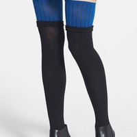 Women's DKNY Colorblock Over the Knee Socks