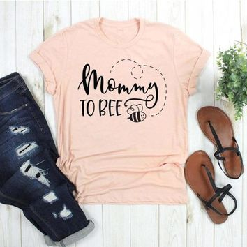 Mommy to Bee t Shirt Expecting Mother funny slogan cute graphic grunge aesthetic tumblr cotton casual mother days gift tee tops