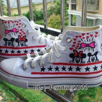 CREYON disney mickey shoes hand painted shoes mickey mouse shoes custom converse shoes bi