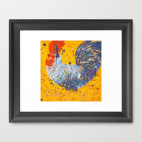 """mista roosta""  Rooster Rooster Framed Art Print by Jennifer Pennacchio"