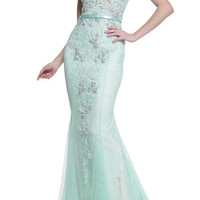 PRIMA 17-20265 Jeweled Lace Mermaid Prom Pageant Dress Evening Gown