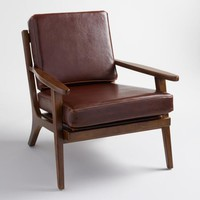 Whiskey Bi Cast Leather Xander Armchair
