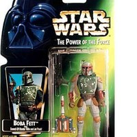 Star Wars Power of the Force Boba Fett Green Card Action Figure with Sawed-off Blaster Rifle and Jet Pack
