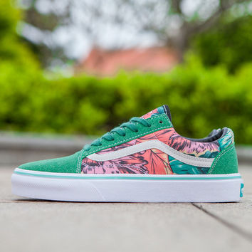 Trendsetter VANS Rainforest Print Canvas Old Skool Flats Shoes Sneakers Sport Shoes