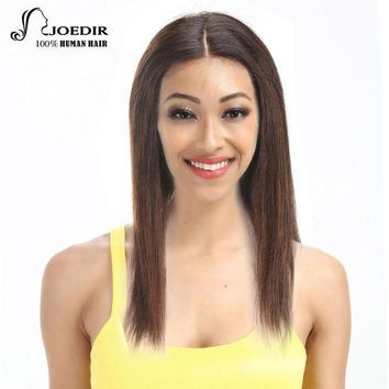 Joedir Lace Front Human Hair Wigs Brazilian Straight Hair Remy Wigs For Black Women 16 Colors Choice Free Shipping