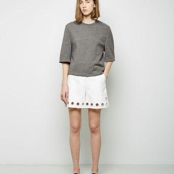 Embroidered Eyelet Walking Shorts by 3.1 Phillip Lim