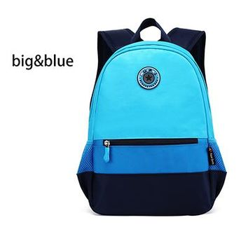 School Backpack 2017 New Arrived Patchwork Design Children  High Quality Lovely School Bags For Kids Students Brand Schoolbag AT_48_3