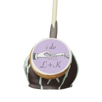 I Do Vintage Wedding Ring Lavender Cake Pop