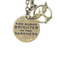The Hunger Games: Mockingjay Fire Burns Necklace
